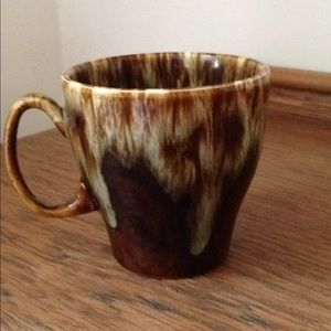 Handmade in the USA pottery tea cup brown ombre